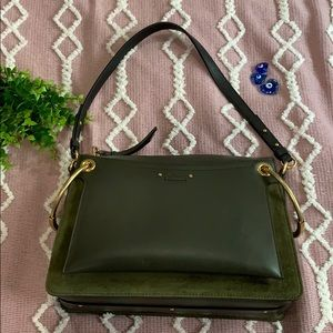 {Chloe} Medium Roy Calfskin & Suede Shoulder Bag